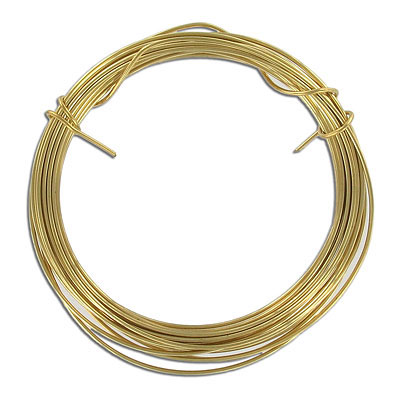 Beading wire, 18 gauge, 1mm, brass, 3 meters