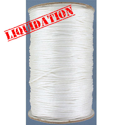 Cord rattail, 250 yards, white