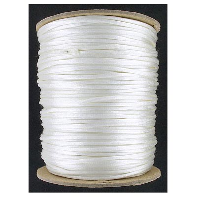 Cord rattail size 2, 131.7 metres (144 yards) white