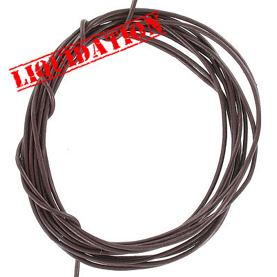 Leather strip brown 5pc-2yd