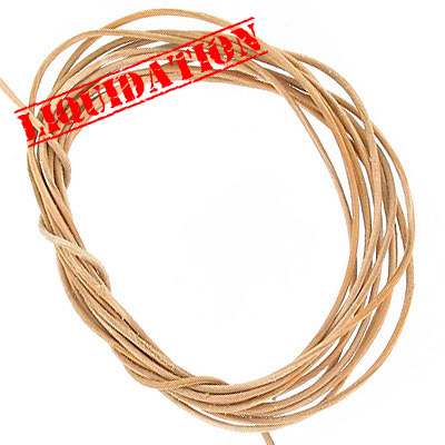 Leather strip natural 5pc-2yd