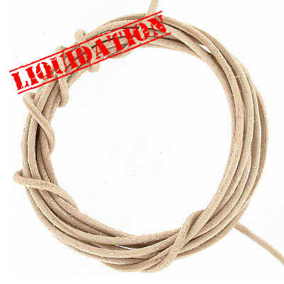 Leather strip, 5 pieces 2 yards length each, 2mm diameter natural