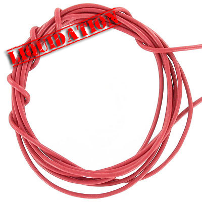 Leather strip, 5 pieces 2 yards length each, 2mm diameter pink coral(color varies)