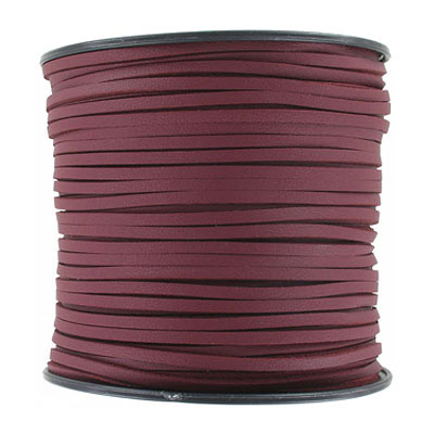 Flat synthetic leather, 2.5x1.5mm, burgundy, 100 yards
