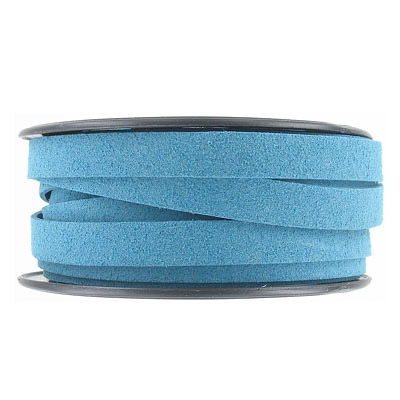 Ultra suede, flat, 10x1.3mm, teal, 10 meters