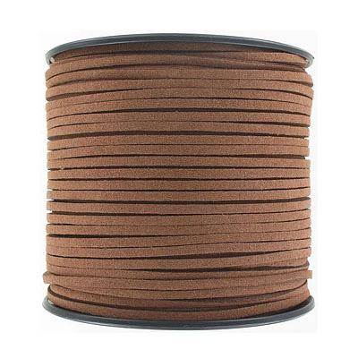 Ultra suede, 2.5mm x 1.5mm, flat, 100 yards, brown