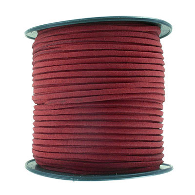 Ultra suede, 2.5mm x 1.5mm, flat, 100 yards, burgundy