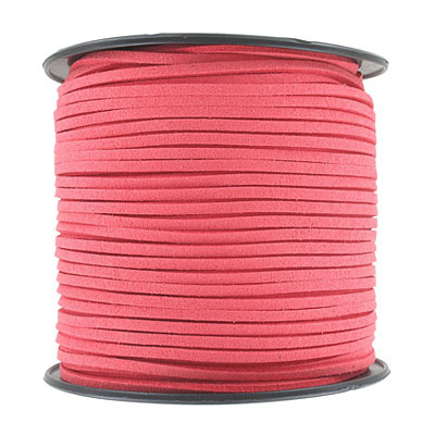 Ultra suede, 2.5mm x 1.5mm, flat, 100 yards, grenadine
