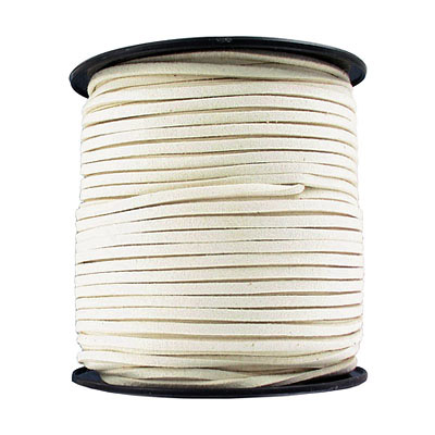 Ultra suede, 2.5mm x 1.5mm, flat, 100 yards, ivory