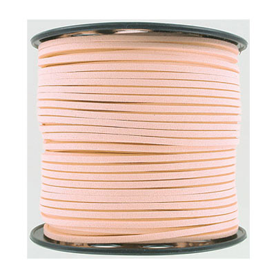 Ultra suede, 2.5mm x 1.5mm, flat, 100 yards, light blush