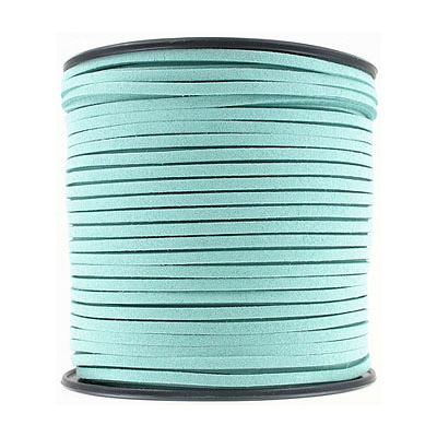 Ultra suede, 2.5mm x 1.5mm, flat, 100 yards, light teal