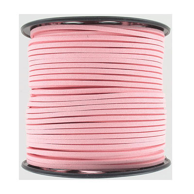 Ultra suede, 2.5mm x 1.5mm, flat, 100 yards, light pink