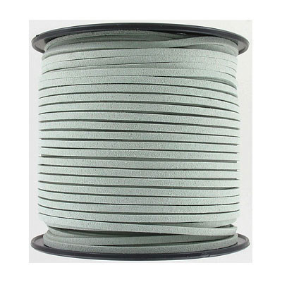 Ultra suede, 2.5mm x 1.5mm, flat, 100 yards, light sage