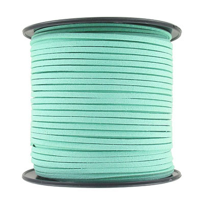 Ultra suede, 2.5mm x 1.5mm, flat, 100 yards, mint