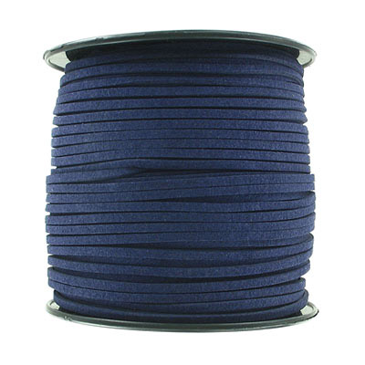 Ultra suede, 2.5mm x 1.5mm, flat, 100 yards, navy