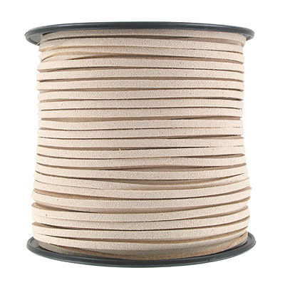 Ultra suede, 2.5mm x 1.5mm, flat, 100 yards, nude