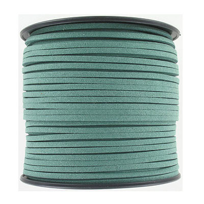 Ultra suede, 2.5mm x 1.5mm, flat, 100 yards, sage
