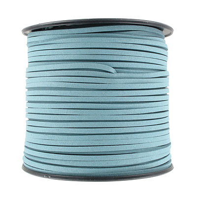 Ultra suede, 2.5mm x 1.5mm, flat, 100 yards, teal