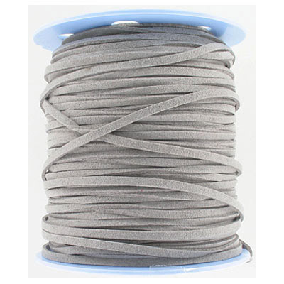 Ultra micro fiber suede, 3mm, flat, 100 yards, light grey