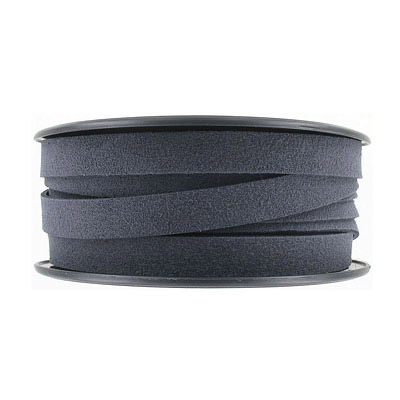 Ultra suede, flat, 10mm, dark grey, 10 meters