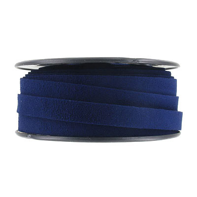 Ultra suede, flat, 10mm, navy blue, 10 meters