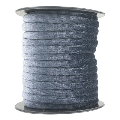Round velour cord, 7mm, grey, 10 metres