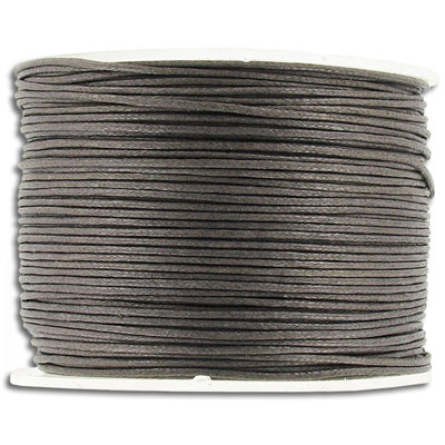 Waxed cord 0.5mm 100 metres brown