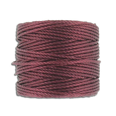 Thread s-lon tex 400 heavy macrame cord, 4 spools per pakage, 35 yards, burgundy mix