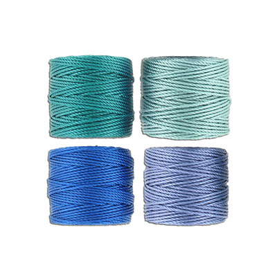 Thread s-lon tex 400 heavy macrame cord, 4 spools per pakage, 35 yards, sea mix