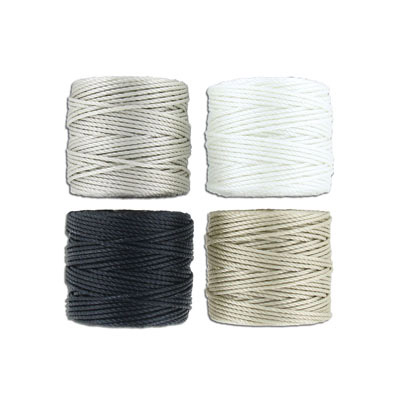 Thread s-lon tex 400 heavy macrame cord, 4 spools/pkg, 35 yards, salt and pepper mix