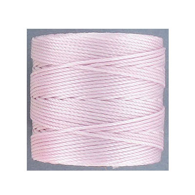 Thread s-lon bead cord, 0.50mm, each spool: 70.4 meters (77 yards), blush, (4 spools/pkg)