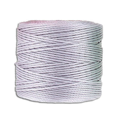 Thread s-lon bead cord, 0.50mm, each spool: 70.4 metres (77 yards), lavender, (4 spools/pkg)