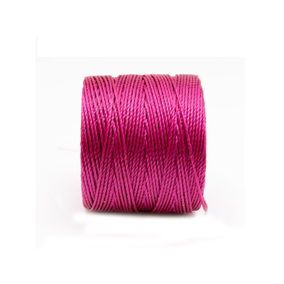 Beadsmith thread s-lon bead cord, 0.50mm, each spool: 70.4 metres (77 yards), magenta, (4 spools/pkg)