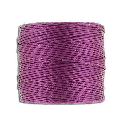 Thread s-lon bead cord, each spool: 70.4 metres (77 yards), wineberry (4 spools/pkg)