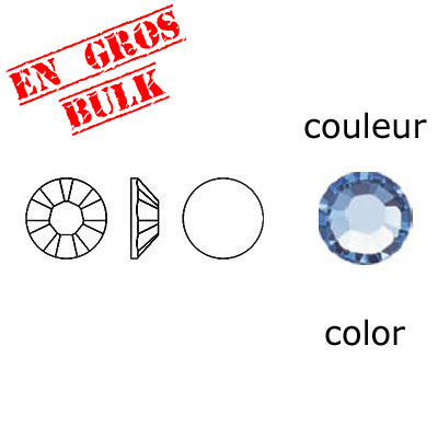 BULK - EN GROS! Crystal Swarovski 2058, Xilion Rose No Hotfix. Light Sapphire color. SS5 size