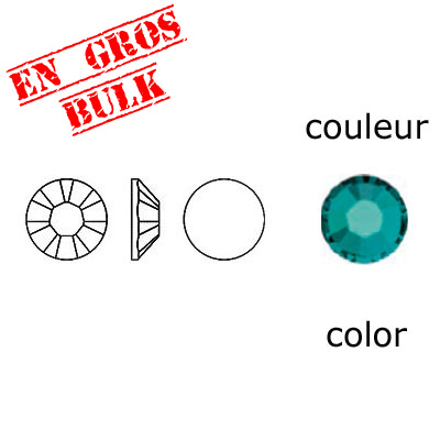 BULK - EN GROS! Crystal Swarovski 2058, Xilion Rose No Hotfix. Blue Zircon color. SS10 size