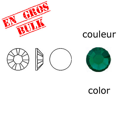 BULK - EN GROS! Crystal Swarovski 2058, Xilion Rose No Hotfix. Emerald color. SS10 size
