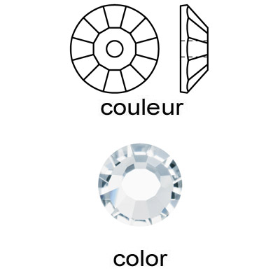 Czech machine cut crystal, lochrose, crystal color, 3mm size