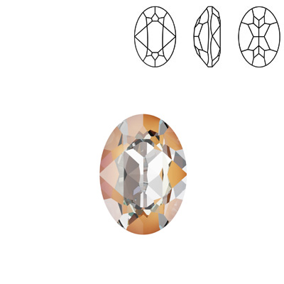 Crystals, Swarovski>Innovations Spring-Summer 2020;Crystal Swarovski 4120, Oval Fancy Stone. Crystal Peach DeLight color