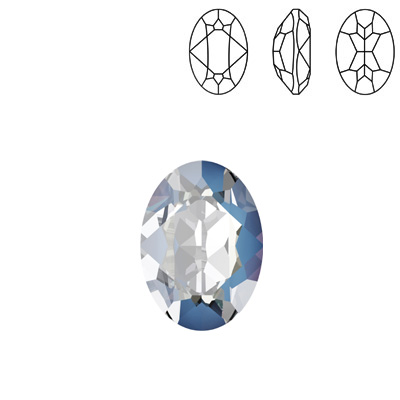 Crystal Swarovski 4120, Oval Fancy Stone. Crystal Ocean DeLight color. 14x10mm size.