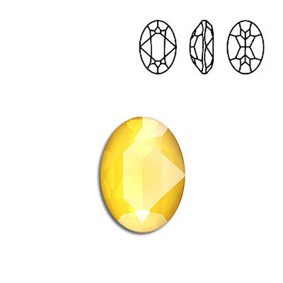Crystal Swarovski 4120, Oval Fancy Stone. Crystal Buttercup color. 18x13mm size.