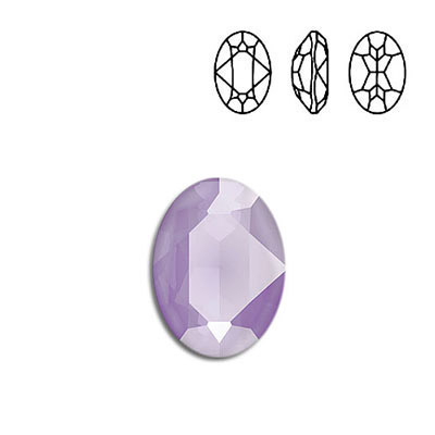 Crystal Swarovski 4120, Oval Fancy Stone. Crystal Lilac color. 18x13mm size.