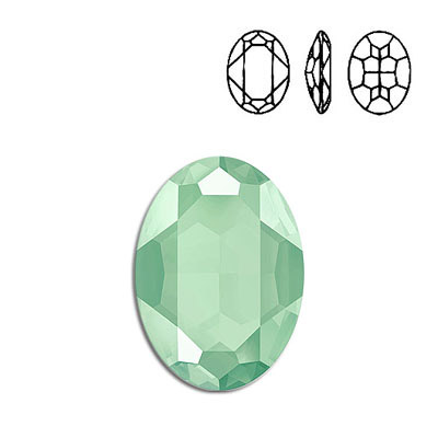 Crystal Swarovski 4127, Oval Fancy Stone. Crystal Mint Green color. 30x22mm size.