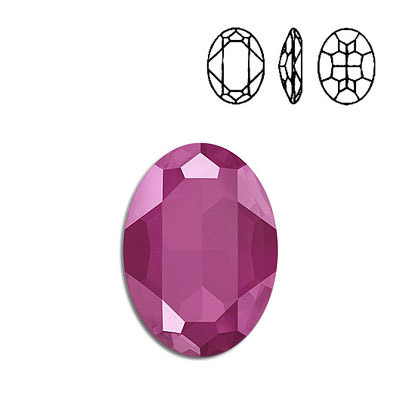 Crystal Swarovski 4127, Oval Fancy Stone. Crystal Peony Pink color. 30x22mm size.