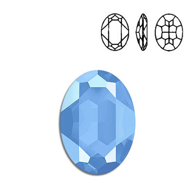 Crystal Swarovski 4127, Oval Fancy Stone. Crystal Summer Blue color. 30x22mm size.
