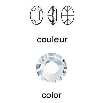 Czech machine cut crystal, oval, crystal color, 10x8mm size