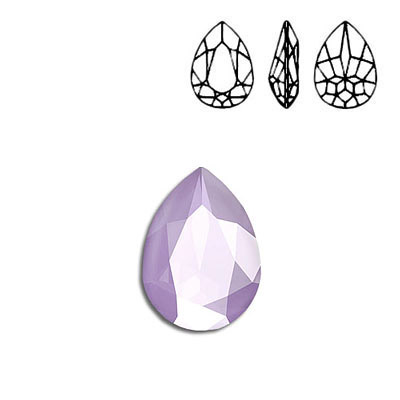 Crystal Swarovski 4320, Pear Fancy Stone. Crystal Lilac color. 18x13mm size.
