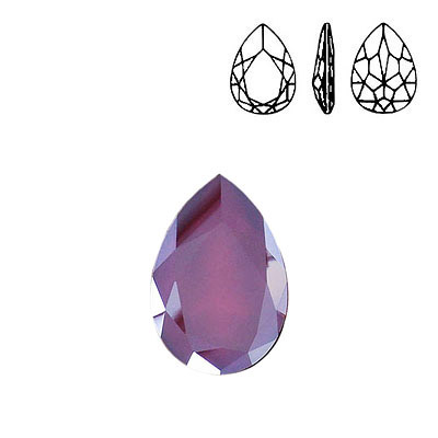 Crystal Swarovski 4327, Pear Fancy Stone. Crystal Lacquer Dark Red color. 30x20mm size.