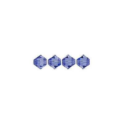 Crystal Swarovski 5328(5301), Faceted Bicone Bead. Tanzanite color. 4mm size. Sold per pack of 144. (SKU# 5328/4MM/246)