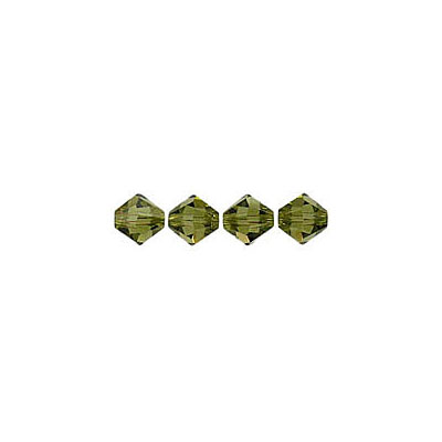 Crystal Swarovski 5328(5301), Faceted Bicone Bead. Khaki color. 4mm size